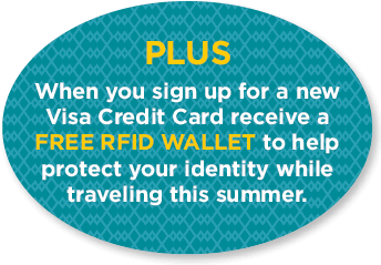 SMFCU VISA Credit Card RFID Wallet offer